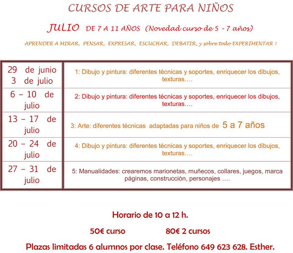 Cursos de Arte para Niños Marbella 2015